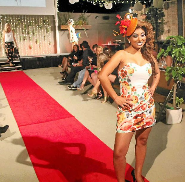 STUNNING: Rowena Kissun in last year's Whitsunday Reef Festival's Frocktails event. PHOTO: CHARLOTTE LAM