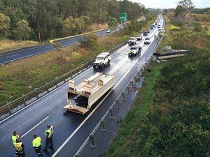 Truck crash on Cunningham