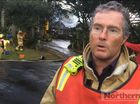 NSW Fire and Rescue's Byron Bay deputy captain Cameron Townend talks about the fire that destroyed a mansion on the corner of Kingsley Street and Massinger Street, Byron Bay.
