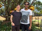 CRUISY DUO: Triple J breakfast show hosts Alex Dyson and Matt Okine at Splendour.