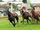 GOLDEN MOMENT: Sunshine Coast horse Phelan Ready, with Brad Rawiller aboard, wins the Golden Slipper at Rosehill in 2009.