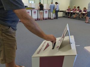 Queensland state election day polling booth at the Mountain Creek High School. Photo: Brett Wortman / Sunshine Coast Daily