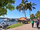 A RIVERSIDE stoush is brewing at Noosaville for commercial operators including coffee stands as the council warns them to not take up public space.