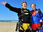 DONE IT ALL: Pam Goudge and Karin Zinder marked three-quarters of a century of life by jumping out of a perfectly good plane.