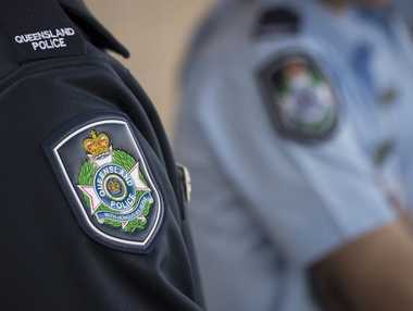 Queensland Police Service badge on uniform, Monday, July 27, 2015. Photo Kevin Farmer / The Chronicle