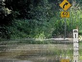 NORTH Queensland has recorded 1 in 100 year rainfall events overnight with some locations experiencing 180mm of rain within two hours.
