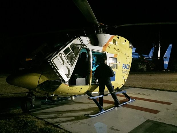 RESCUE MISSION: The RACQ CareFlight Rescue helicopter responded to back-to-back missions on Saturday after two patients were injured in separate accidents in the North Burnett region. Photo Contributed