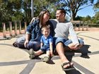 Kristie and Glen Cowan with their son Raine, found love through a wrong text mesage. Photo: Amy Cook / Fraser Coast Chronicle