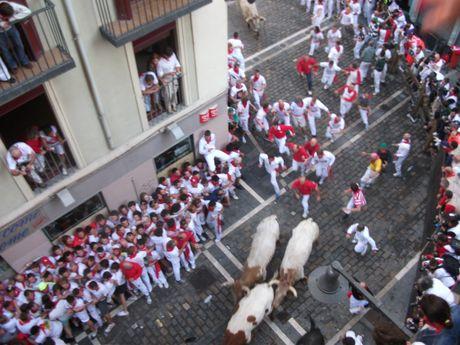 Dead Man's Corner, Running of the Bulls.