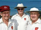 INTREPID TRIO: Wide Bay senior cricketers (from left) Les Price, 75, Terry Andrews, 64, and Brian Kratzmann, 69 played for Queensland last week.