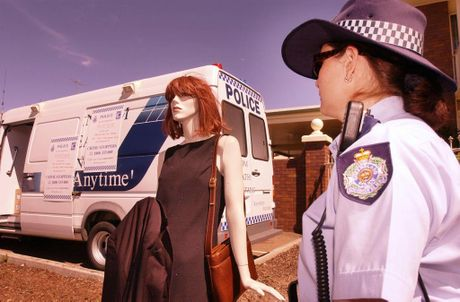 A mannequin dressed like Tarmara June Smith stands where she was last seen alive in Clifford Street, outside Grand Central Shopping Centre.