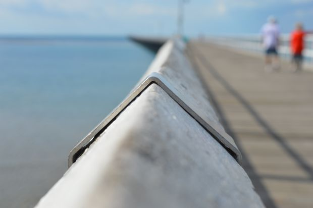 Taking in the Urangan Pier.