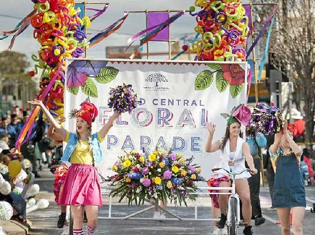 FLOWER POWER: It's not a Carnival of Flowers without the floral parade.