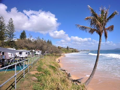 The beachfront caravan park at Mooloolaba is considered to be in the best location in Australia