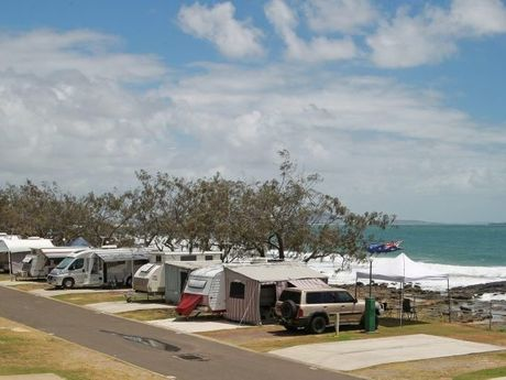 Caravan park at the northern end of Mooloolaba