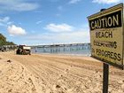 KEEPING IT CLEAN: Raking up litter dumped at Hervey Bay's beaches is a never-ending task. Beach goers are urged to use the bin.