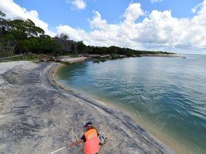 Rainbow beach still 'living the dream' despite sinkhole