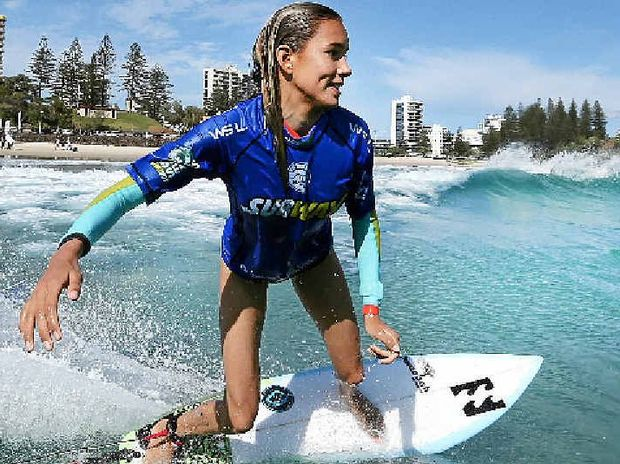 SOLID RESULT: Former Iluka surf-prodigy Pacha Light finished third in the Under 14 girls at Rip Curl GromSearch event held at Maroubra Beach on the weekend.