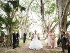 Love (and veil) on fire at fairytale wedding
