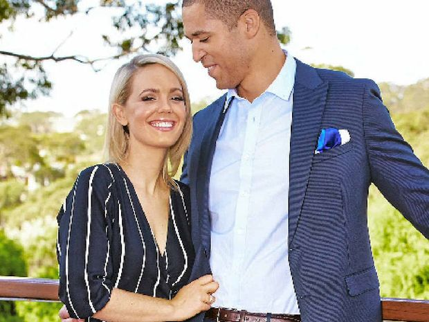 UNDER THE HAMMER: Reality star Blake Garvey (right) and his partner Louise Pillidge will be auctioning off property in Dundowran.