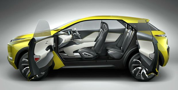 The Mitsubishi eX Concept is the company's vision for a compact SUV powered by a next-generation EV system.
