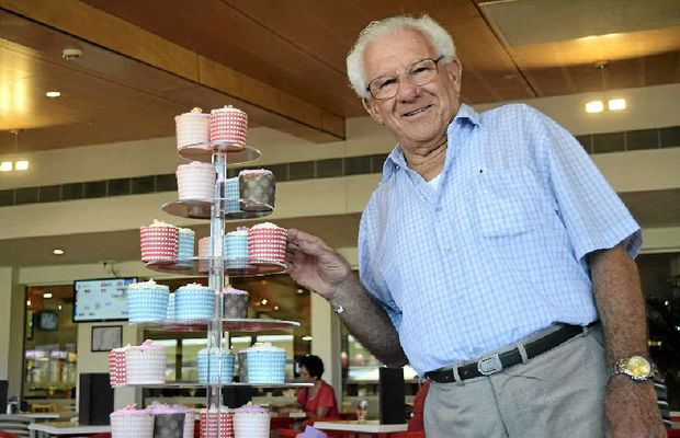 CAKE FOR CARERS: Neville Castle celebrates National Carers Week with a cupcake and a chat. At home is his beloved Ena.