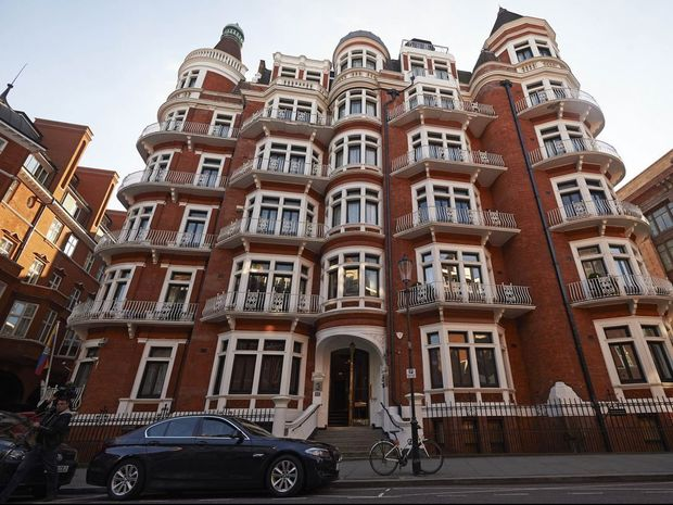 The Eduadorian embassy in London, where Julian Assange has remained for the last four years.