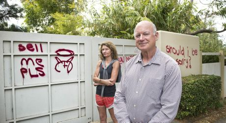 Ian Knox has offered $5000 as a reward to anyone who can help catch the vandals.