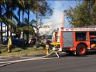 A witness describes seeing flames 20-30 feet high at a fire at the Byron Bay Arts and Industry Estate, Saturday, October 17, 2015.