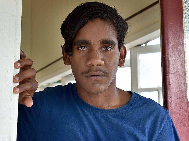 "DEVASTATED: Year 9 Maryborough student Phillip Alberts alleges a teacher called him ""black boy""."