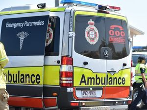 A man was stabbed in the back on Saturday afternoon during an altercation at an address in Bellbird Park