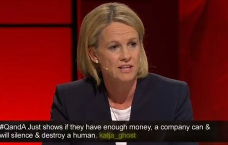 Rural Health Minister Fiona Nash on Q & A. Photo Contributed