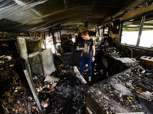 Fire victims thank community support
