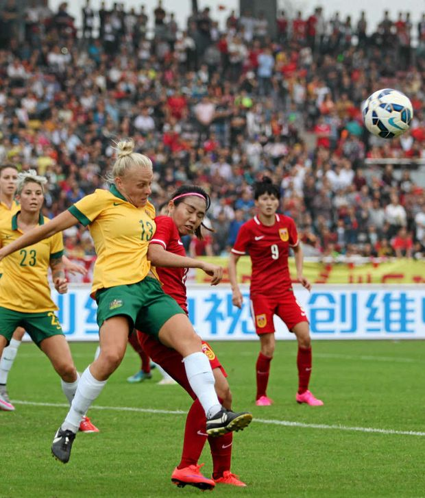 The Australian women's football team, aka the Matildas, are ranked ninth in the world but their pay-packets don't reflect their successes on the field. Photo: AP