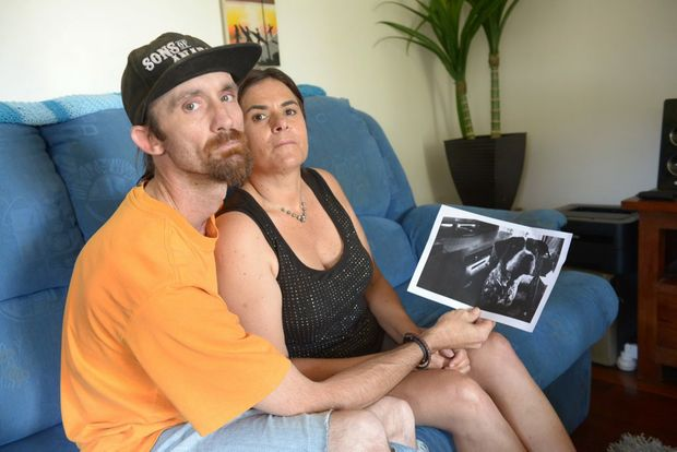 DOG KILLED: Bundaberg Council had told Shaun Proctor and Leonie Woodbury to pick up their dog from the pound within five days. They paid the registration and release fee but when they went to the pound they discovered that their beloved dog had been destroyed. Photo: Max Fleet / NewsMail