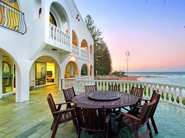 ROOMS WITH A VIEW: The Mediterranean-style house at Dicky Beach had plenty of interest.