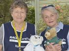 CAREFLIGHT BEARS: Volunteers Margaret Bailey from Dalby and Errol Kerr at the Careflight open day Photo Bev Lacey / The Chronicle