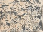 LOCAL HISTORY: The cartoon featuring Nambour identities which was found under the lino of a Brisbane home.