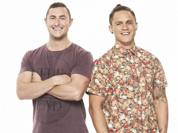 "My Kitchen Rules 2016 Queensland contestants the ""Miner Diners"" Alex and Gareth who fly in out to the mines."