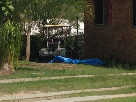 One golf buggy was found at a home on Hampton Dr in Tannum Sands. Photo Contributed