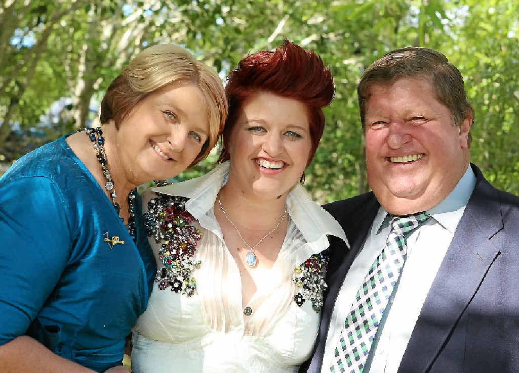 (Top )Jill, Kara and Rodney Hopson.