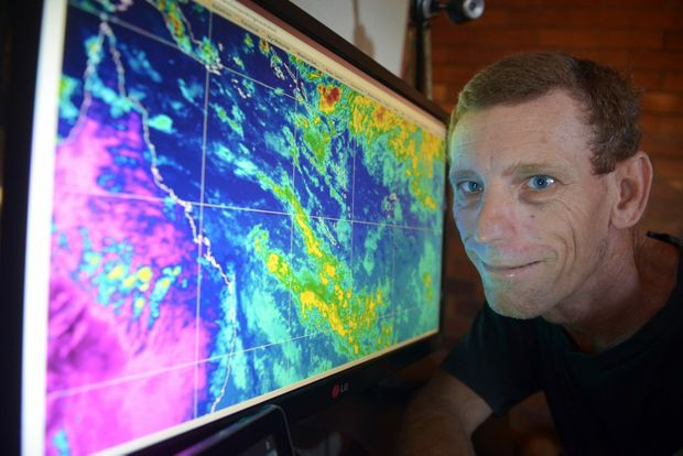 STORM CHASER: Bundaberg man Jason Watt is the real deal. Chasing storms has been a passion of his since he was a child and although some storms scare the daylights out of him he keeps coming back for more. Photo: Max Fleet / NewsMail
