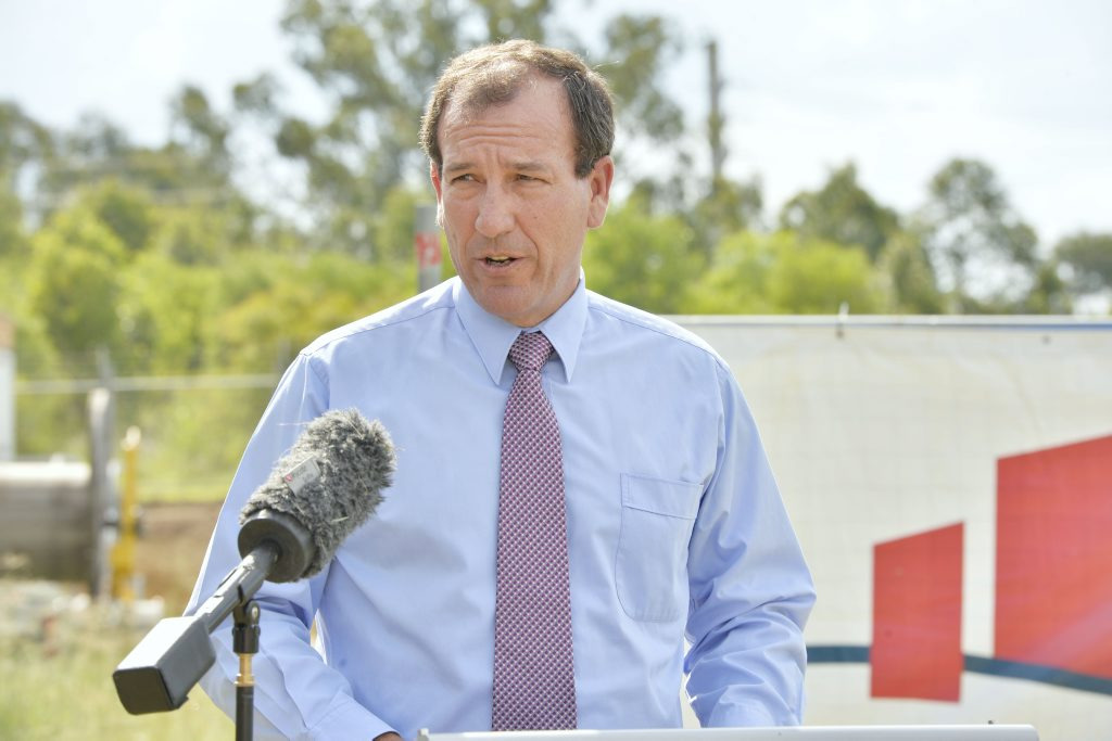 New construction to be started at RAAF. Defence Minister, Mal Brough. Photo Inga Williams / The Queensland Times