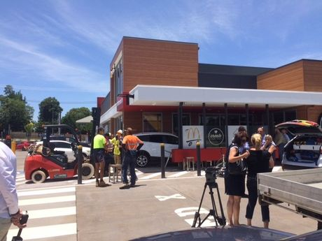 The incident took place near the McDonald's at Herries St in East Toowoomba.