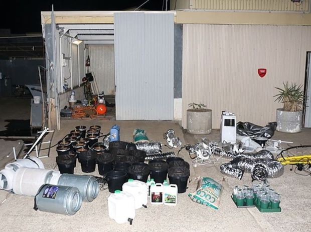 Hydroponic equipment seized.