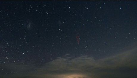 Sprites are large electrical discharges that take place high above thunderstorm clouds.