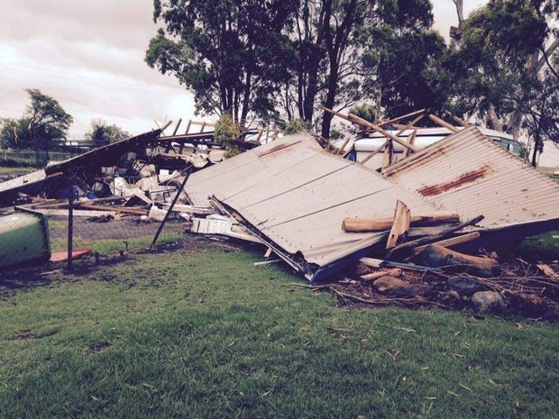 Storm devastation: Bowenville was hit hard by the tornado,with many properties suffering damages. Photo Contributed