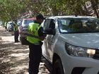 Police conduct random breath tests on Leisha Track in the Cooloola Recreation Reserve.