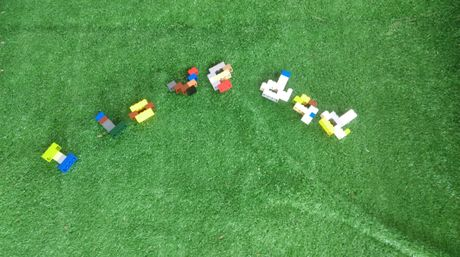 A Lego tribute Jacob (8) made for his dad.