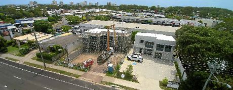 PROGRESS: Property development in Maud St, Maroochydore, is a further sign of a strong commercial property market.